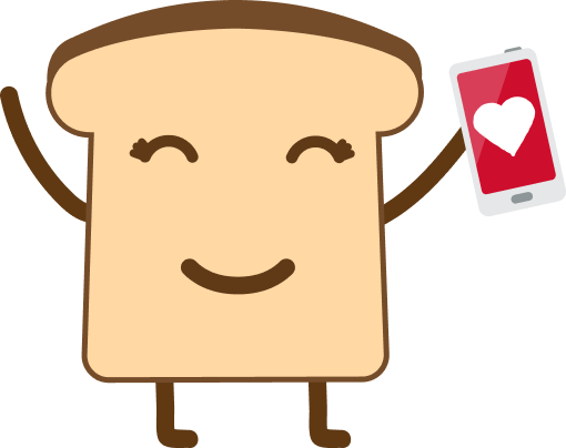 Bread Character with Heart